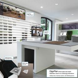 Beispiel Installation des Gesamtsystems mit RFID Scanner und Präsentationsflächen